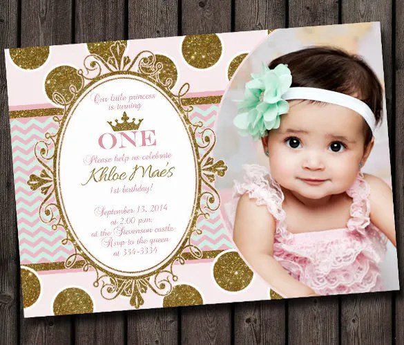 26 + First Birthday Invitations u2013 Free PSD, Vector EPS, AI, Format - free first birthday invitation template