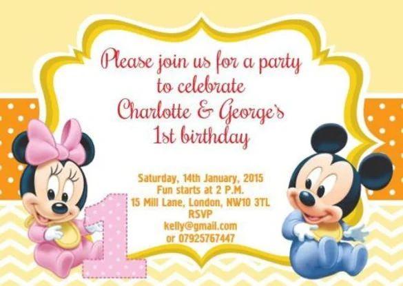 baby first birthday invitation templates free