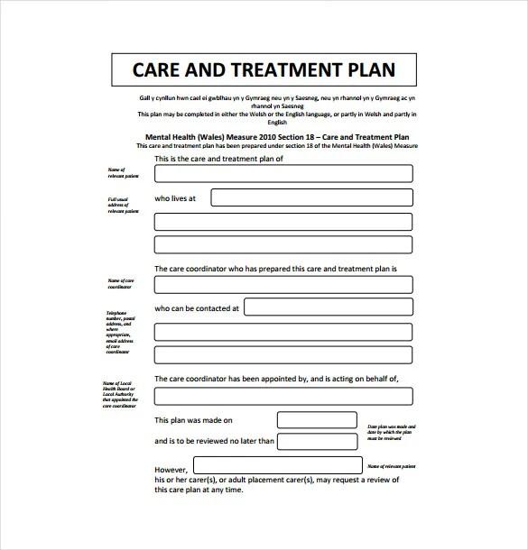 13+ Treatment Plan Templates - Free Sample, Example, Format Download - treatment plan templates