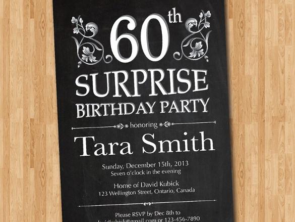 14 Surprise Birthday Invitations Free Psd Vector Eps