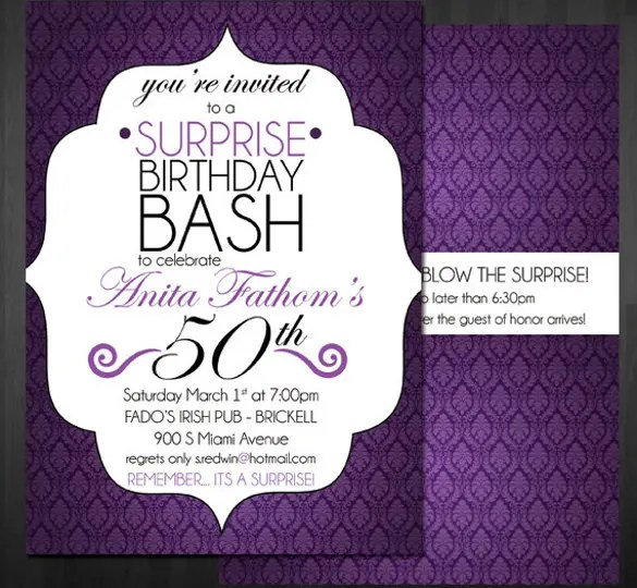 14+ Surprise Birthday Invitations - Free PSD, Vector EPS, AI, Format