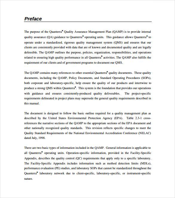 12+ Quality Assurance Plan Templates \u2013 Free Sample, Example, Format