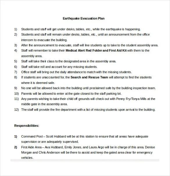 12 + Evacuation Plan Templates - Google Docs, MS Word, Apple Pages