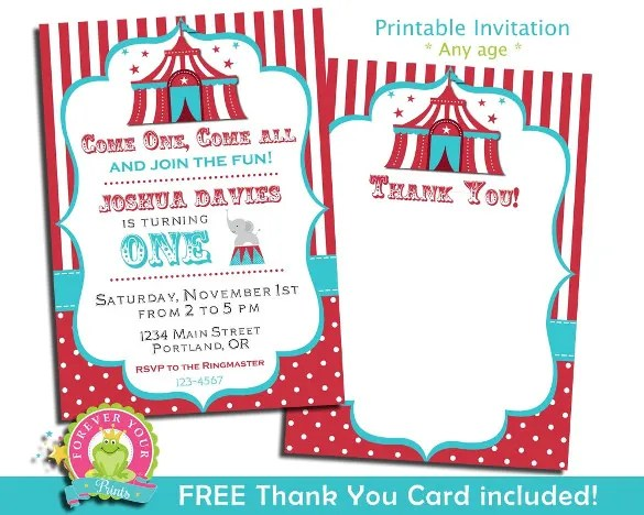 26+ Carnival Birthday Invitations \u2013 Free PSD, Vector EPS, AI, Format