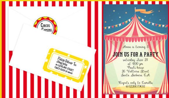 26+ Carnival Birthday Invitations \u2013 Free PSD, Vector EPS, AI, Format - free birthday invitation printable