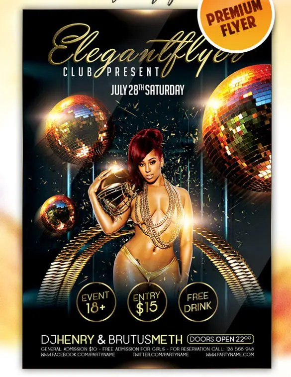 37+ Club Flyer Templates \u2013 Free PSD, RTF, PDF Format Download - free pdf flyer templates