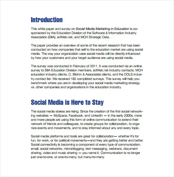 9+ Social Media Marketing Plan Templates \u2013 Free Sample, Example