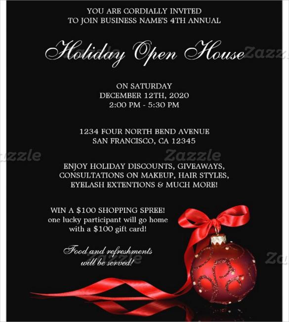christmas open house flyers