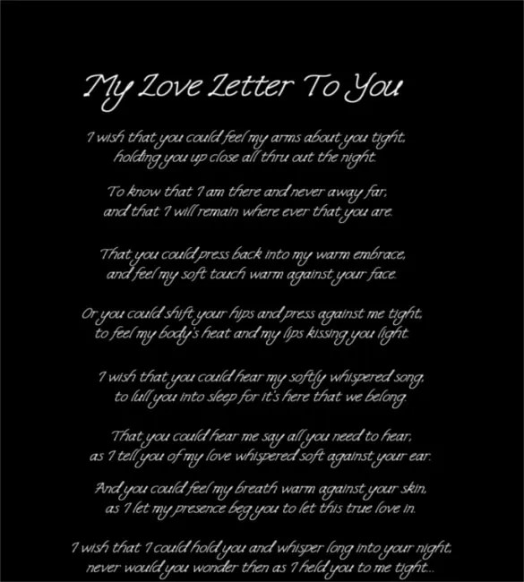 12+ Love Letters for Him \u2013 Free Sample, Example, Format Download