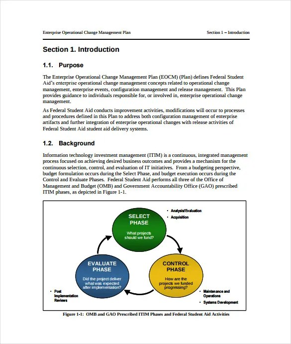 11+ Change Management Plan Templates - Free Sample, Example, Format - Change Management Plan