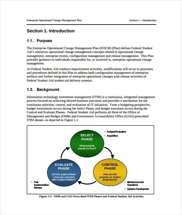 11+ Change Management Plan Templates - Free Sample, Example, Format