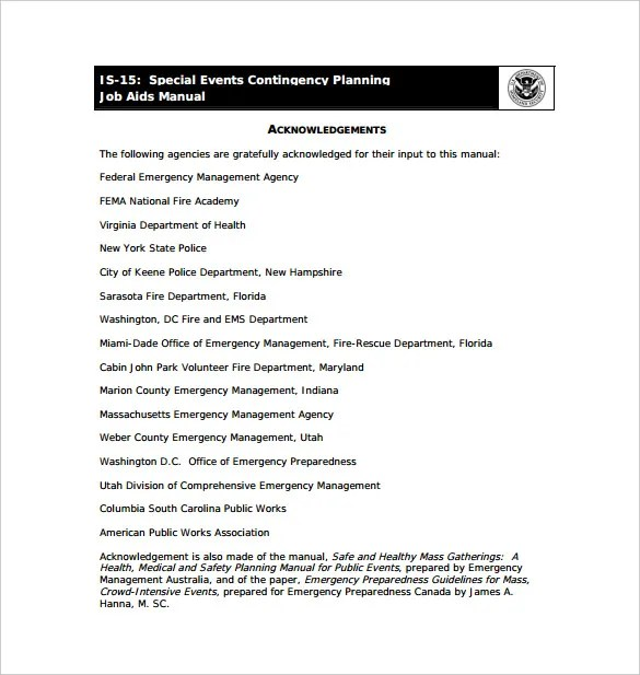 13+ Contingency Plan Templates \u2013 Free Sample, Example, Format