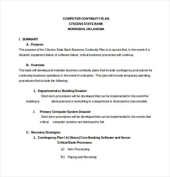 Business contingency plan sample colbro 13 contingency plan templates 2013 free sample example format accmission