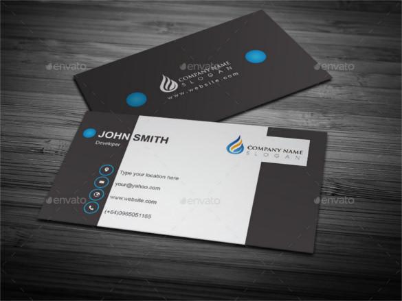 illustrator business card template - Canasbergdorfbib