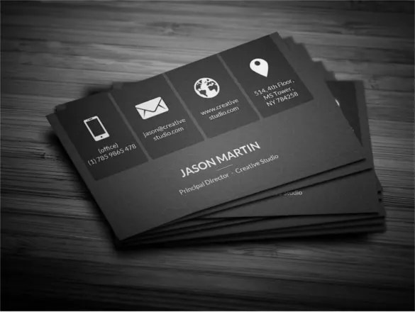 free clean nifty corporate business card template vintage business - Buisness Card Template