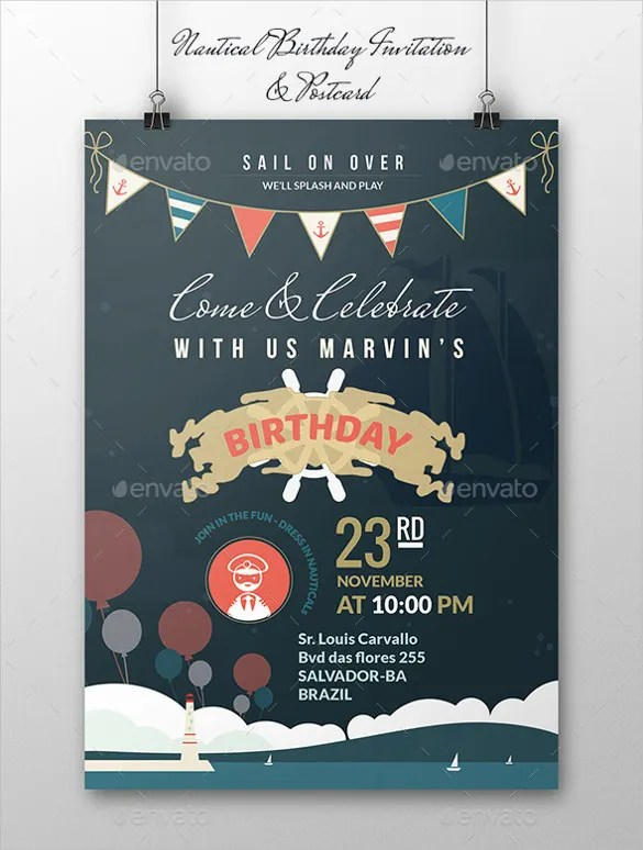 25+ Postcard Birthday Invitation Templates \u2013 Free Sample, Example - post card invitations