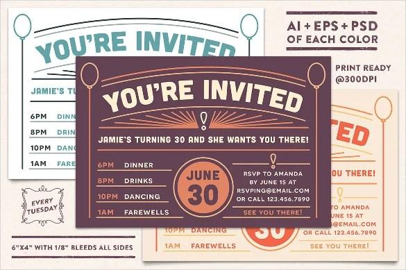 25+ Postcard Birthday Invitation Templates \u2013 Free Sample, Example - post card invitations