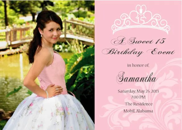 28+ Quinceanera Invitations Templates - PSD, Vector EPS, AI, Word