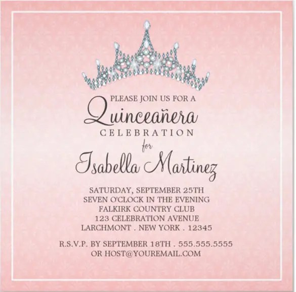 25+ Quinceanera Invitations Template - Free PSD, Vector EPS, AI