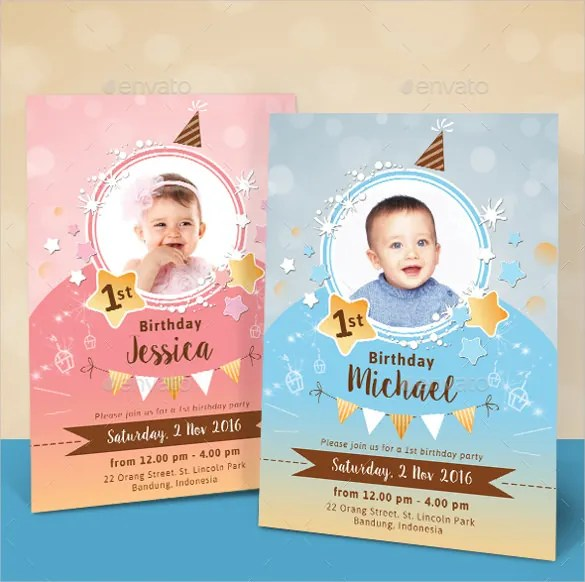 40+ Kids Birthday Invitation Templates \u2013 PSD, AI, Word, EPS Free