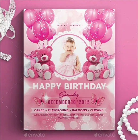 42+ Kids Birthday Invitation Templates \u2013 Free Sample, Example - invitation birthday template