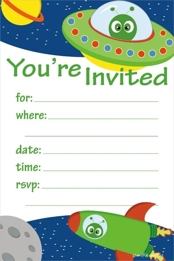 42+ Kids Birthday Invitation Templates \u2013 Free Sample, Example - birthday party card template
