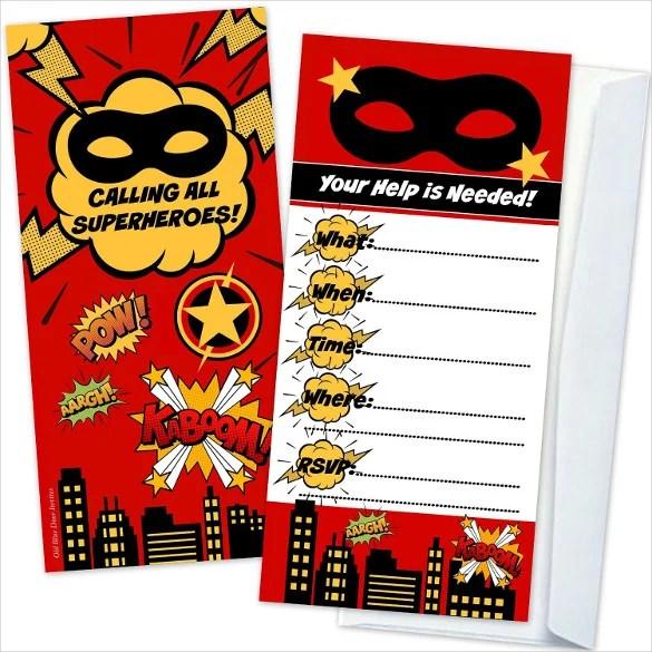 30+ Superhero Birthday Invitation Templates - PSD, AI Free