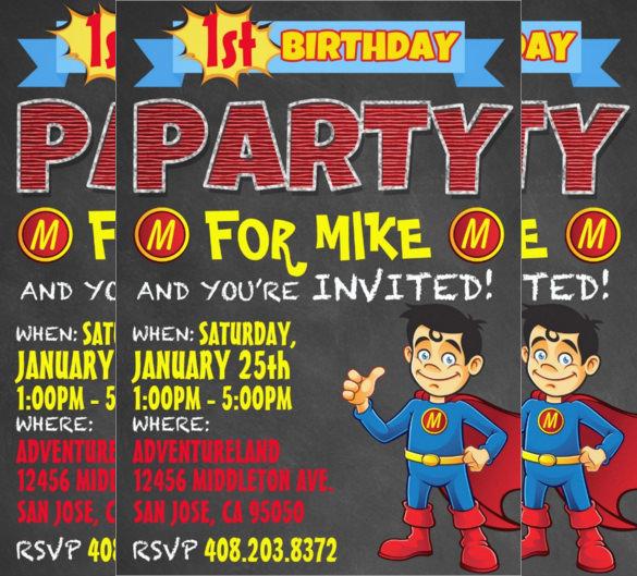 superhero birthday invite - Yelomdigitalsite