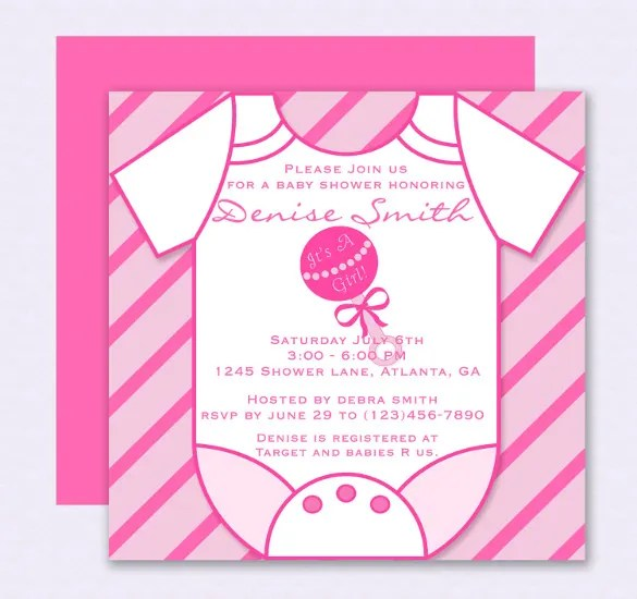 14+ Onesie Invitation Template - Free PSD, Vector EPS, AI, Format