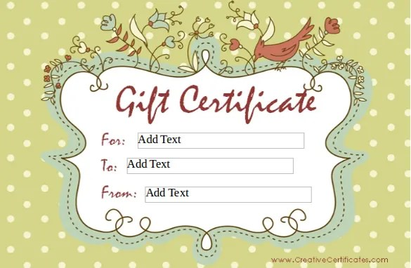 12+ Blank Gift Certificate Templates \u2013 Free Sample, Example Format - make your own gift certificates free