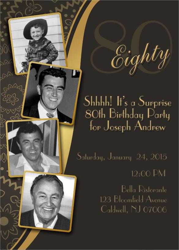 80th birthday party invitation wording