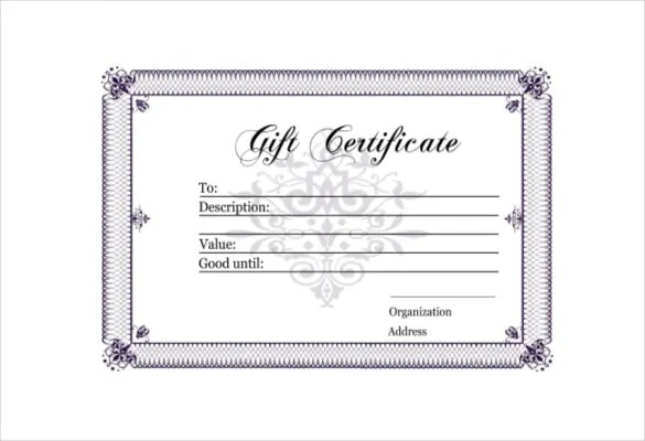 Blank gift certificate template free download - Blank gift