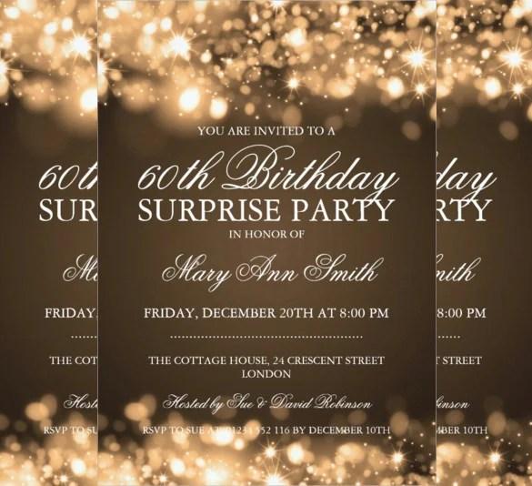 26+ Surprise Birthday Invitation Templates \u2013 Free Sample, Example - gala invitation template