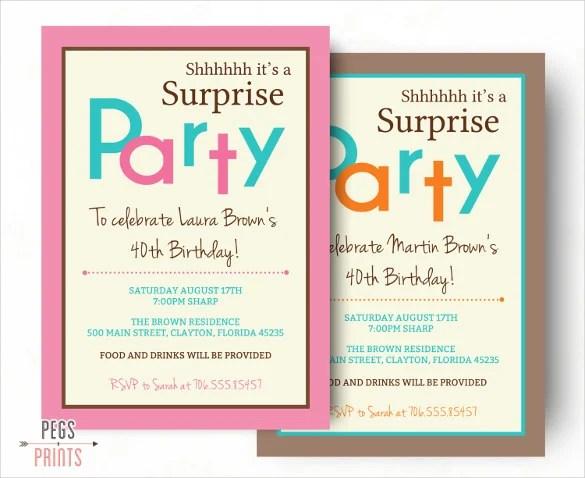 26 Surprise Birthday Invitation Templates Free Sample