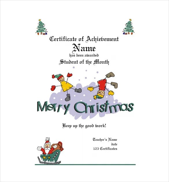 Christmas Gift Certificate Template - 16+ Word, PDF Documents - Christmas Certificates Templates For Word