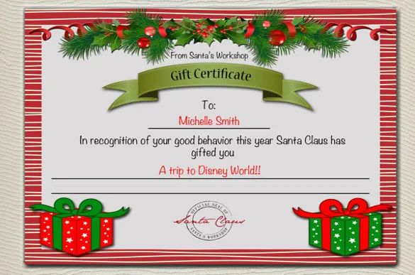 christmas voucher templates free download