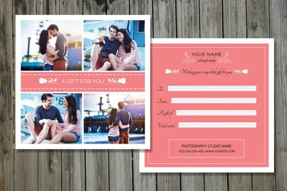 Photography Gift Certificate Templates u2013 15+ Free Word, PDF, PSD - christmas certificates templates for word