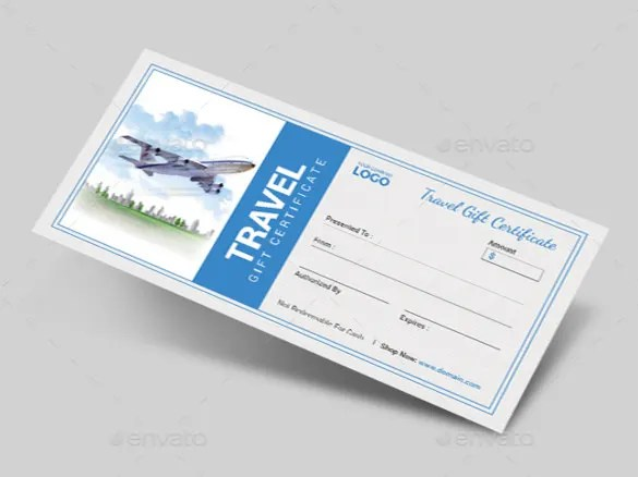 11+ Travel Gift Certificate Templates - Free Sample, Example, Format