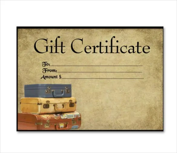 9+ Travel Gift Certificate Templates u2013 Free Sample, Example - sample certificate templates