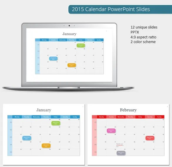 9+ PowerPoint Calendar Templates - Free Sample, Example, Format