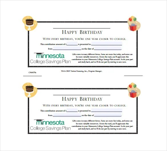 Birthday Gift Certificate Templates \u2013 19+ Free Word, PDF, PSD