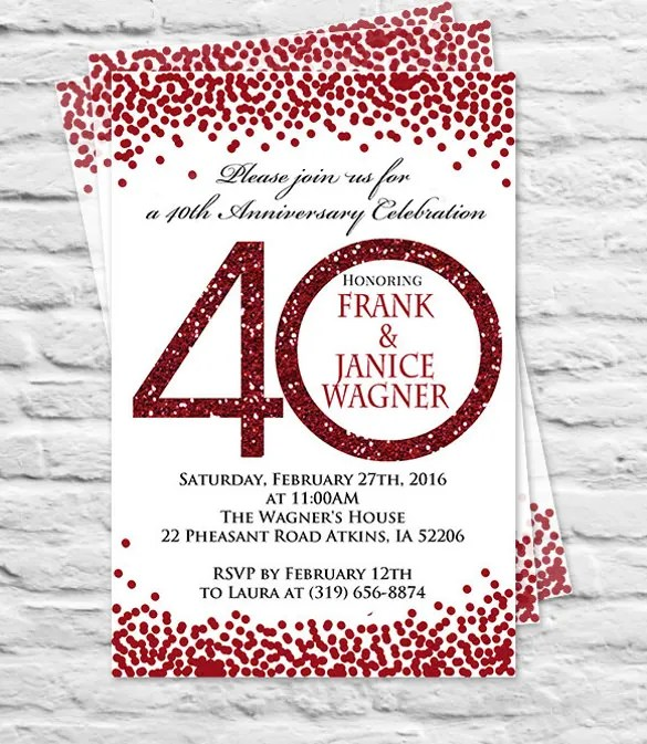 27+ Anniversary Invitation Templates - Free PSD, Vector EPS, AI