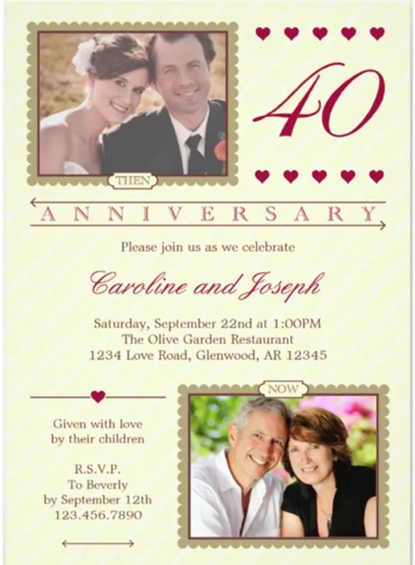 Anniversary Invitation Templates \u2013 28+ Free PSD, Vector EPS, AI - anniversary invitation template