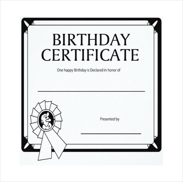 Birthday Gift Certificate Templates \u2013 19+ Free Word, PDF, PSD