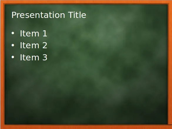 Chalkboard PowerPoint Template \u2013 10+ Free PPT, PPTX Documents