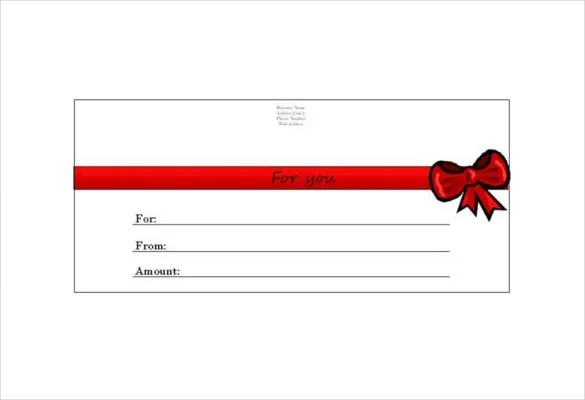 Homemade Gift Certificate Template u2013 12+ Free Word, PDF Documents - christmas gift certificate template free