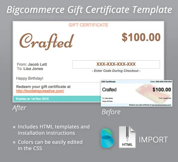 7+ Email Gift Certificate Templates - Free Sample, Example, Format