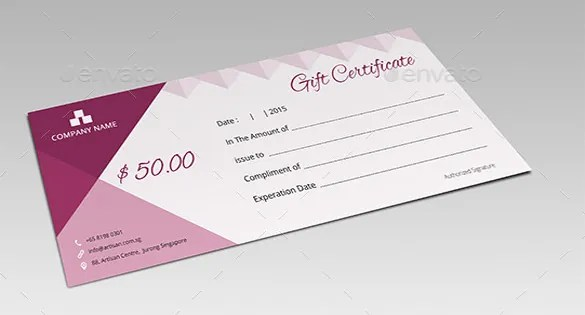 8+ Email Gift Certificate Templates \u2013 Free Sample, Example, Format - business gift certificate template free