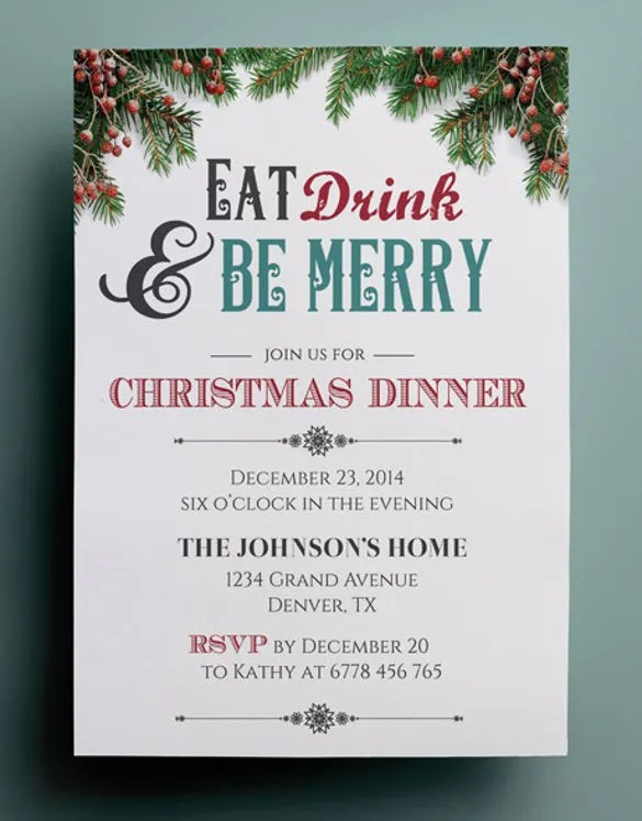 40+ Dinner Invitation Templates - Free Sample, Example, Format - dinner invite templates