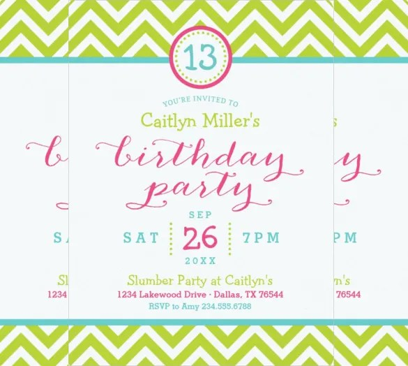 25+ Teenage Birthday Invitation Templates \u2013 Free Sample, Example - birthday invitations sample